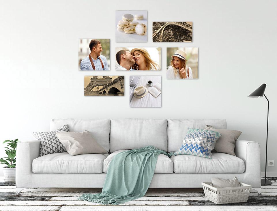 bilder collage wand wohnung