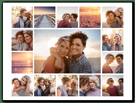 Fotocollage mit 6 Bildern zum Drucken