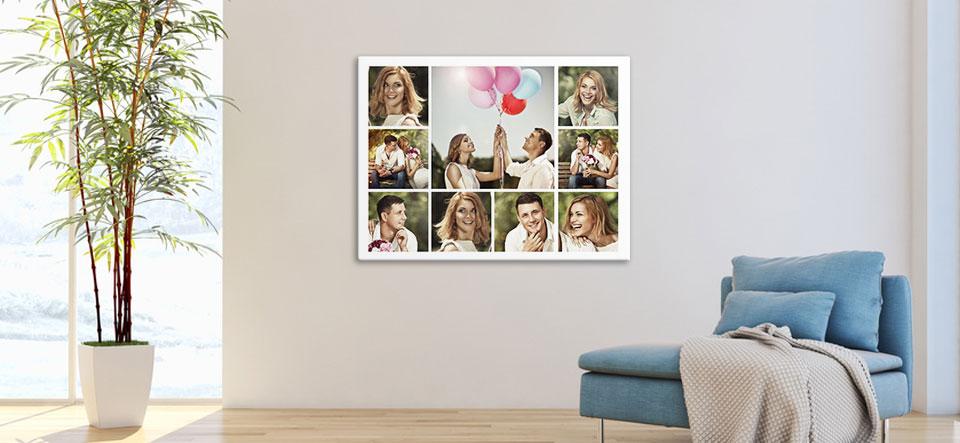 Fotocollage am Mac erstellt und aufgehängt