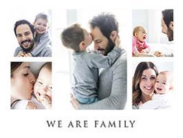Fotocollage Familie mit 5 Fotos