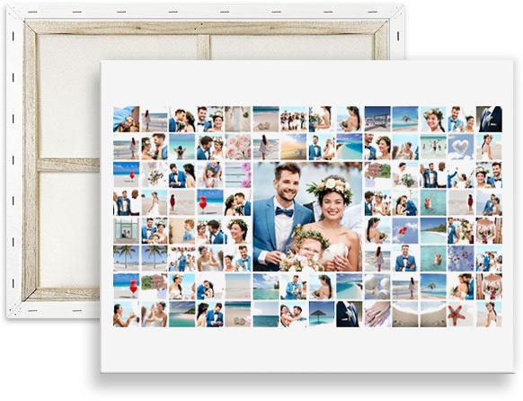 collage mit 100 bildern erstellen auf leinwand