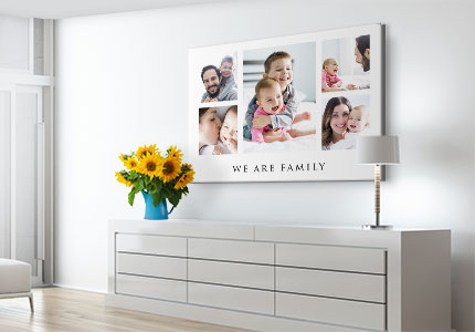 collage poster family wohnraum