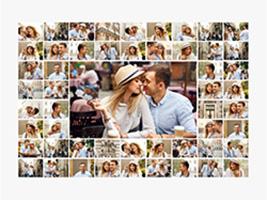 Fotocollage aus Hochzeitsbilder
