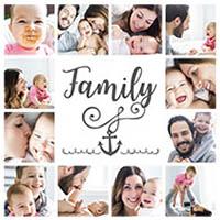 Fotocollage Family mit 12 Bildern