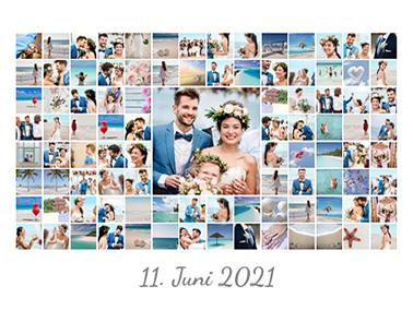 Fotocollage mit 100 Bildern