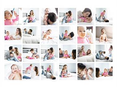Fotocollage aus 24 Bildern