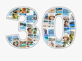 Fotocollage zum 30. Geburtstag mit vielen Bildern