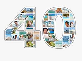 Fotocollage zum 40. Geburtstag mit vielen Bildern