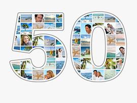 Fotocollage zum 50. Geburtstag mit vielen Bildern