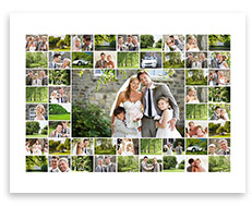 Fotocollage mit 50 Fotos