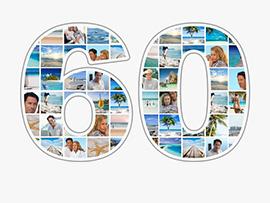 Fotocollage zum 60. Geburtstag mit vielen Bildern