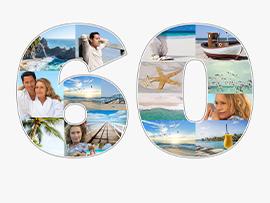 Fotocollage zum 60. Geburtstag