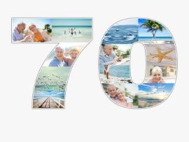 Fotocollage zum 70. Geburtstag