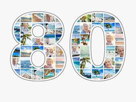 Fotocollage zum 80. Geburtstag mit vielen Bildern