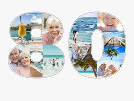 Fotocollage zum 80. Geburtstag
