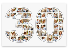 Fotocollage geburtstag neu 250 gratis vorlagen 24h for Photo collage number templates