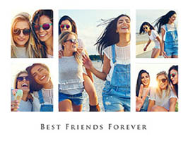 Fotocollage Best Friends 5 Bilder