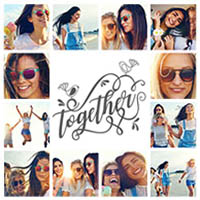 Fotocollage Freunde Together mit 12 Fotos