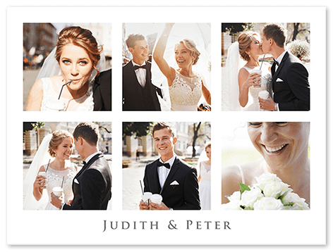 Fotocollage Hochzeit mit 6 Fotos
