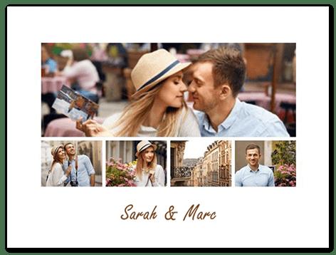 Fotocollage zum online bestellen mit 5 Bildern und Text