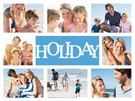 Urlaubscollage Holiday für 8 Fotos