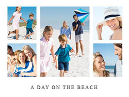 Urlaubscollage mit 5 Bildern und Text