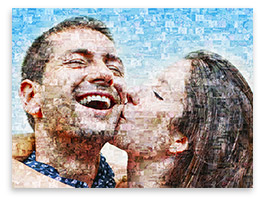 Fotomosaik aus 1.000 Bildern