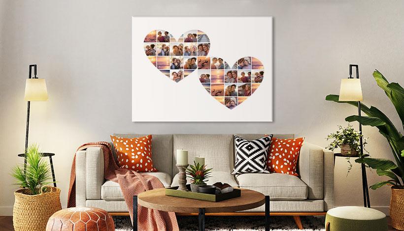 herzen collage wohnzimmer
