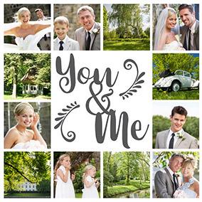 Fotocollage für Hochzeit You & Me