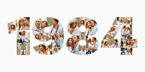 Collage mit Jahreszahl