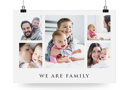 Fotocollage Family als Poster