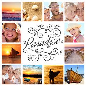 Collage aus Urlaubsbilder Paradise